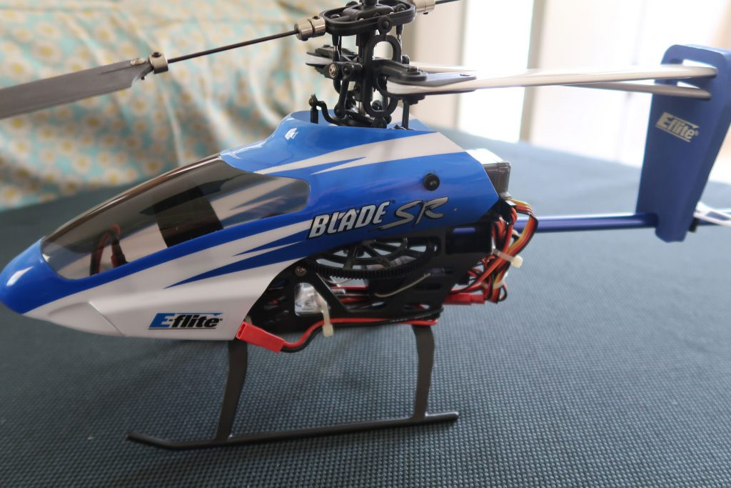 Popular among beginners looking for their maiden CP helicopter flight - the Blade SR seems to be the right size