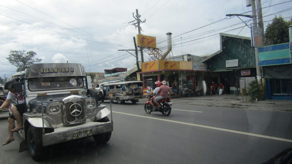 Jeepneys ply the national highway in Cabuyao, Laguna