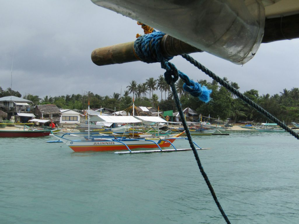 Approaching the port of Sabang in Cagbalete Island